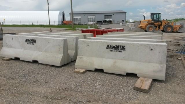 Altamix concrete jersey barriers